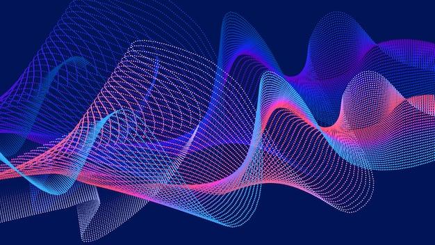 抽象的な波の形の粒子