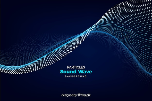 Particles sound wave background