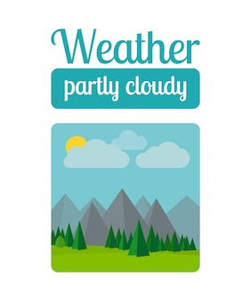 Partly cloudy weather illustration