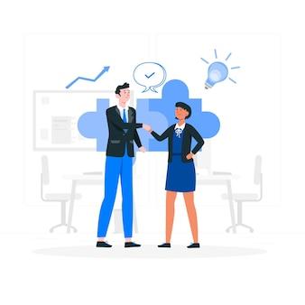 Иллюстрация концепции партнерства