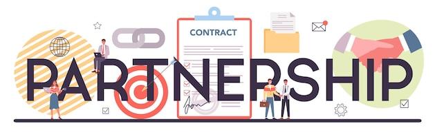 Partnership typographic header