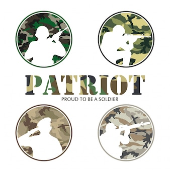 Partriot army & soldier military logo