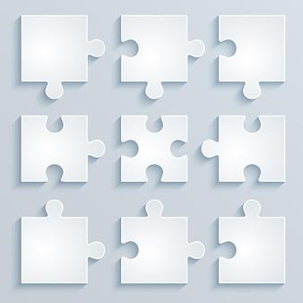 Части бумажных пазлов. бизнес-концепция, шаблон, макет, инфографика.