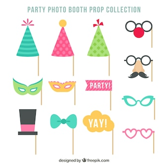 Party accessories set for photos