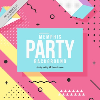 Party background of geometric shapes