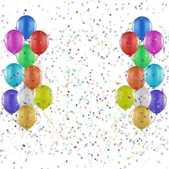 Партии фон из воздушных шаров и конфетти