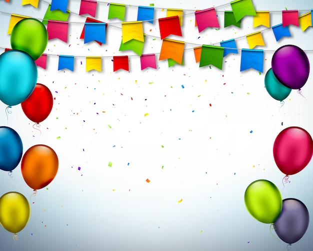 Party background with colorful ornaments