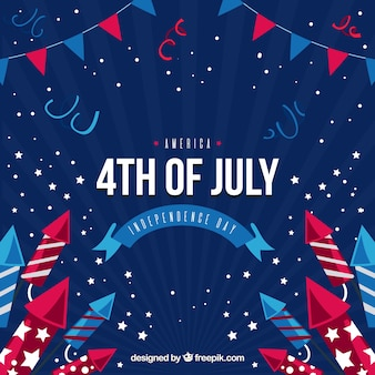 Party background with decorative elements for independence day