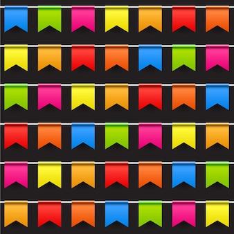 플래그 원활한 패턴 벡터 일러스트와 함께 파티 배경입니다. eps10