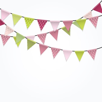Party background with flags