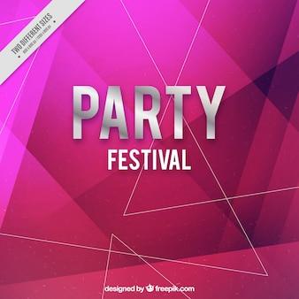 Партии фон с геометрическими фигурами в фиолетовых тонах