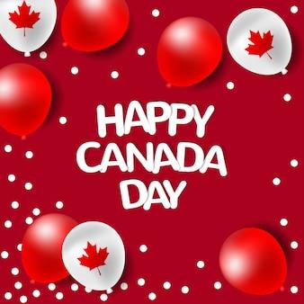 カナダの建国記念日のパーティー風船