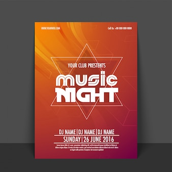 Party banner advertising disconight invitation card
