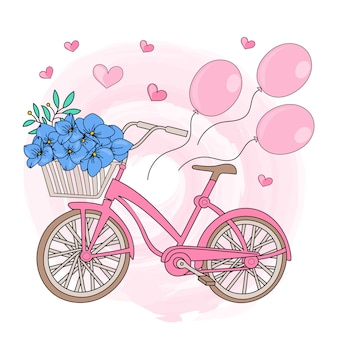 Party bicycle valentine's day