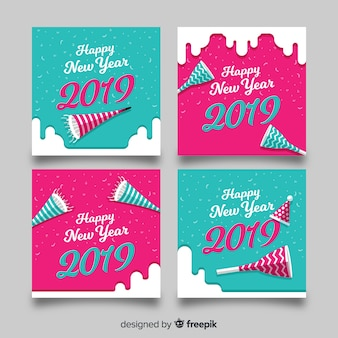 パーティーブロワーの新年カードコレクション