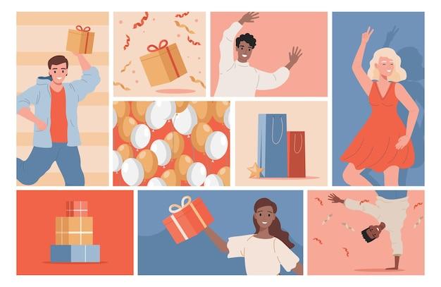 Празднование вечеринки или иллюстрация праздничного события