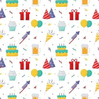 Party celebration seamless pattern.