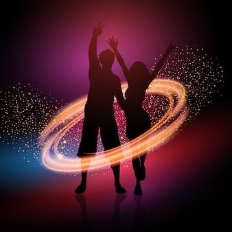 Party couple on a sparkle background