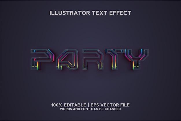 Party dark rainbow text effect