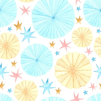 Party decoration watercolor seamless pattern