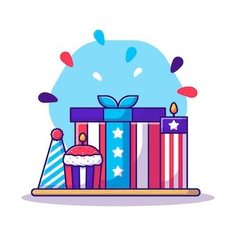 Элемент партии на день независимости сша мультфильм. день независимости сша
