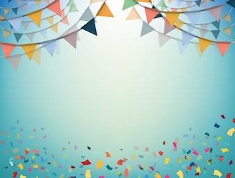 Confettiのパーティーフラッグ