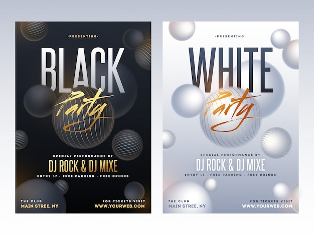 Party flyer design.