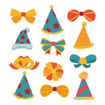 Party hat and bow vector design
