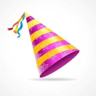 Партийная шляпа, изолированные на белом фоне. символ праздника
