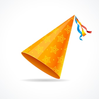 Party hat isolated on a white background.
