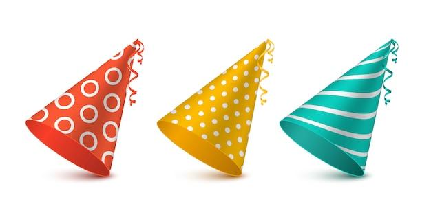 파티 모자 휴가 디자인에 대 한 설정입니다.