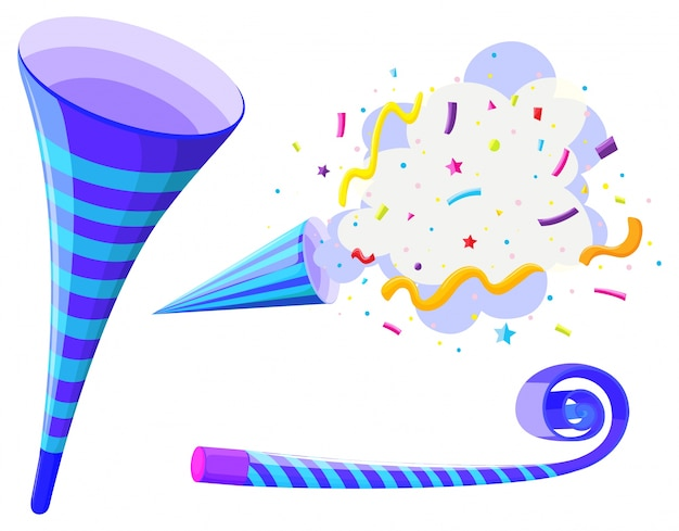 Party horn and pop up cone