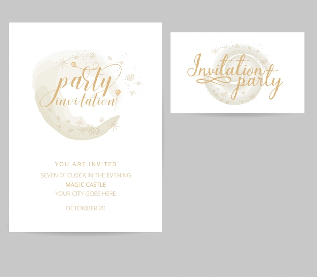 Party invitation and business card design