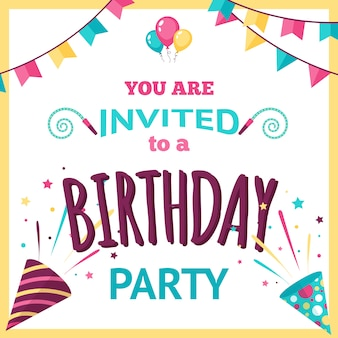 Party invitation illustration