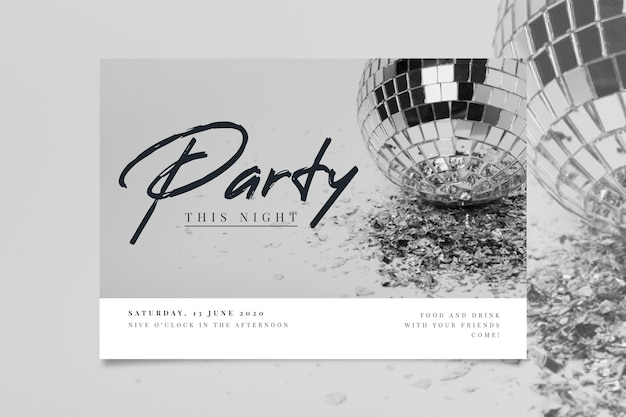 Party invitation with photo concept