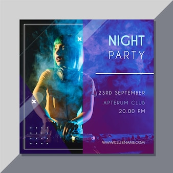 Party invitation with photo