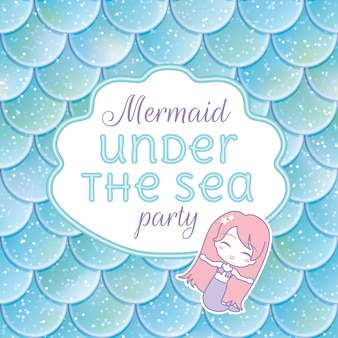 Mermaid vectors photos and psd files free download party invitation stopboris Gallery