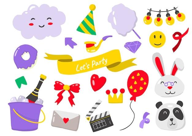 Партия этикетка логотип для баннера, плаката, флаера