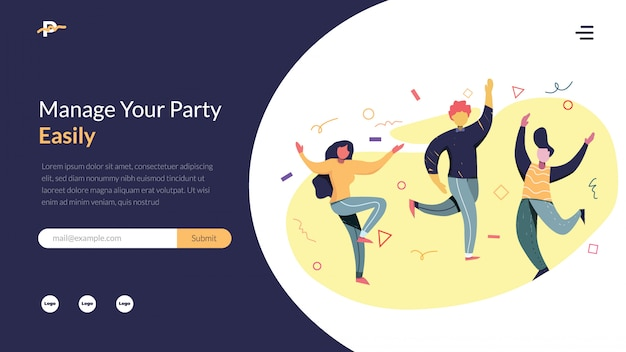 Party organizer vector illustration