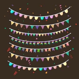 Collezione di ornamenti per feste