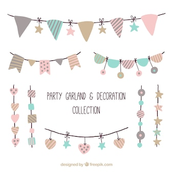 Ornamenti party pack in stile vintage
