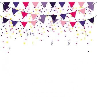 Party pennants frame