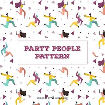 평면 디자인 파티 사람들 패턴