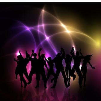 Party people silhouetes sfondo