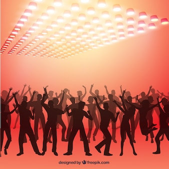 Party people silhouettes background