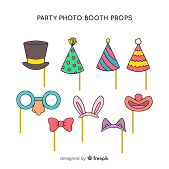 Party photo booth prop collection