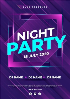 Party poster abstract style