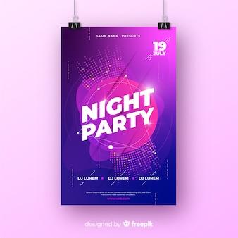 추상적 인 형태로 파티 포스터 템플릿