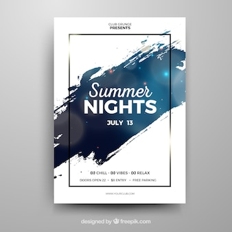 Disco party poster design Vector | Free Download