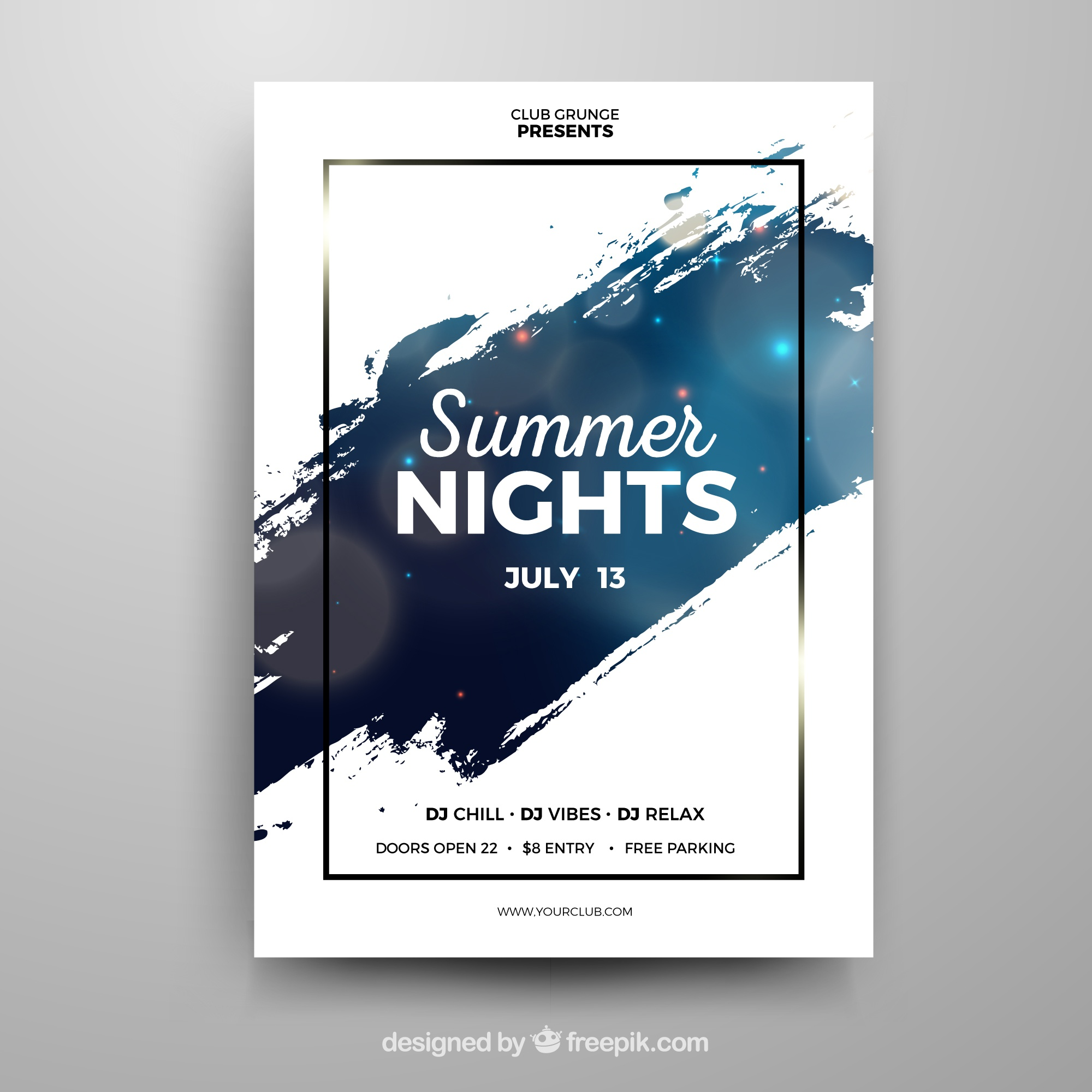 Party poster template with abstract style